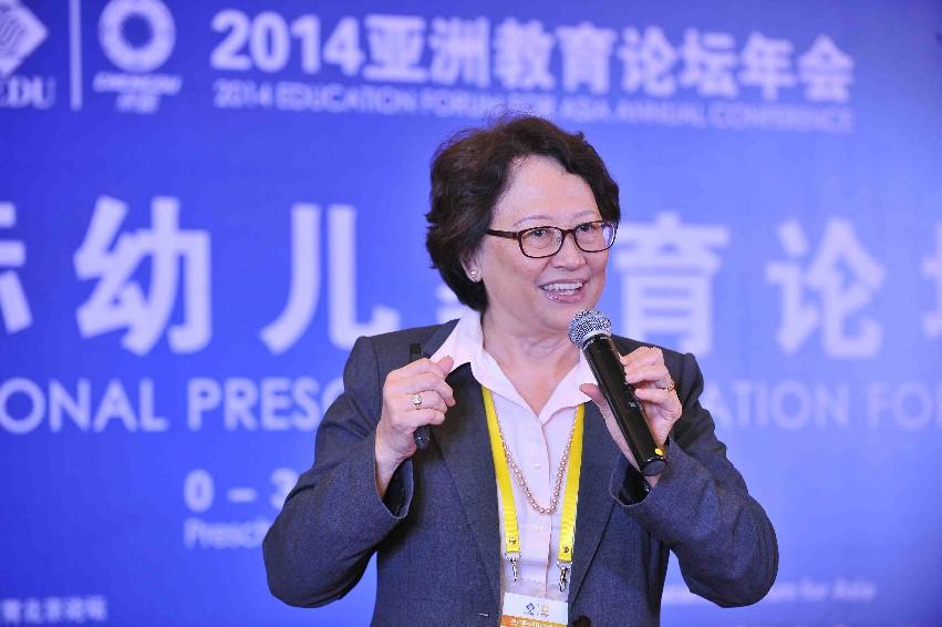 新加坡幼儿教育协会会长陈苏培庆发表演讲